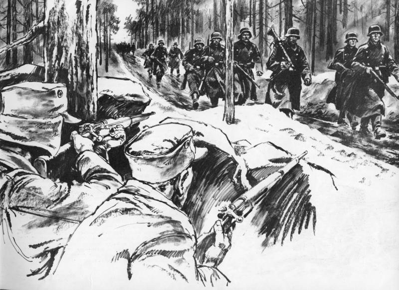 Ved Kroken ble tyskerne sluppet inn på kloss hold før ild ble åpnet.