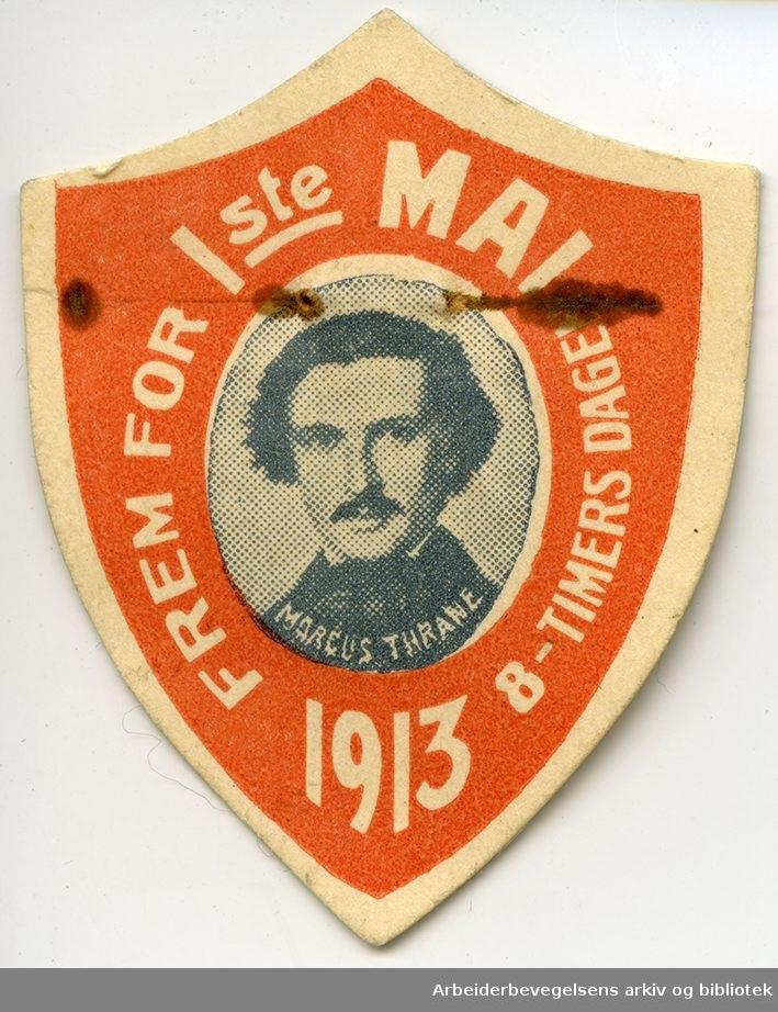 Arbeiderpartiets 1. mai-merke fra 1913