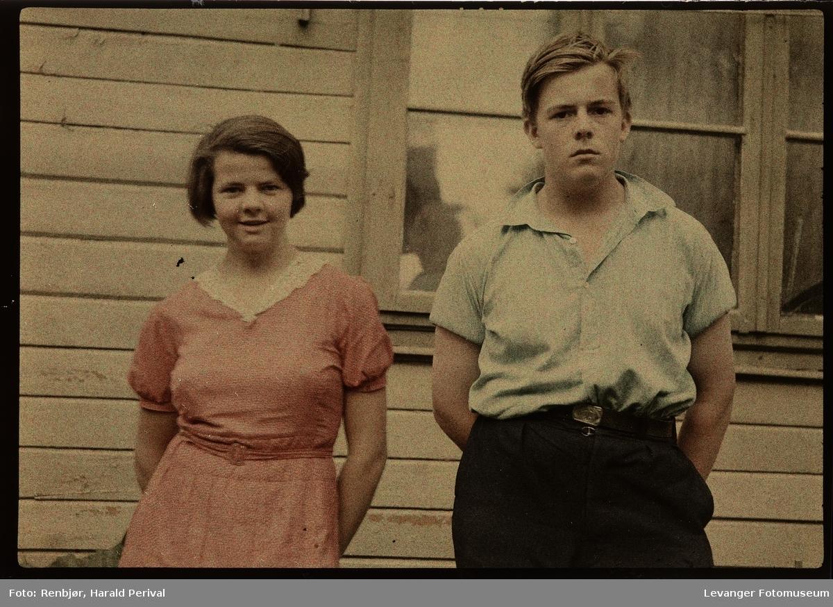 Per Renbjør og ei ung kvinne.