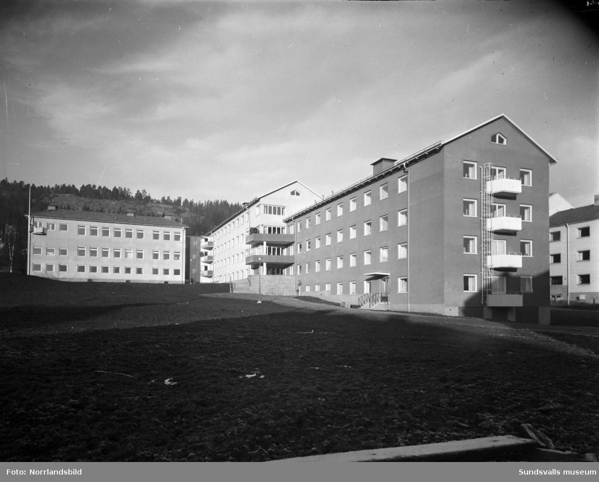 Sjuksköterskeskolan invid lasarettet på Norrmalm. Exteriör.
