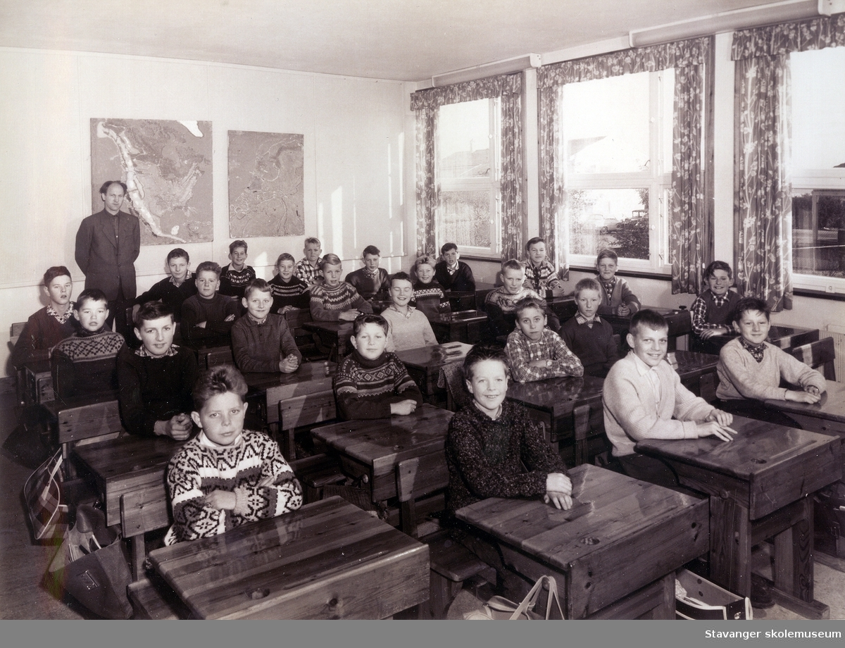 Klassebilde. Kvaleberg skole