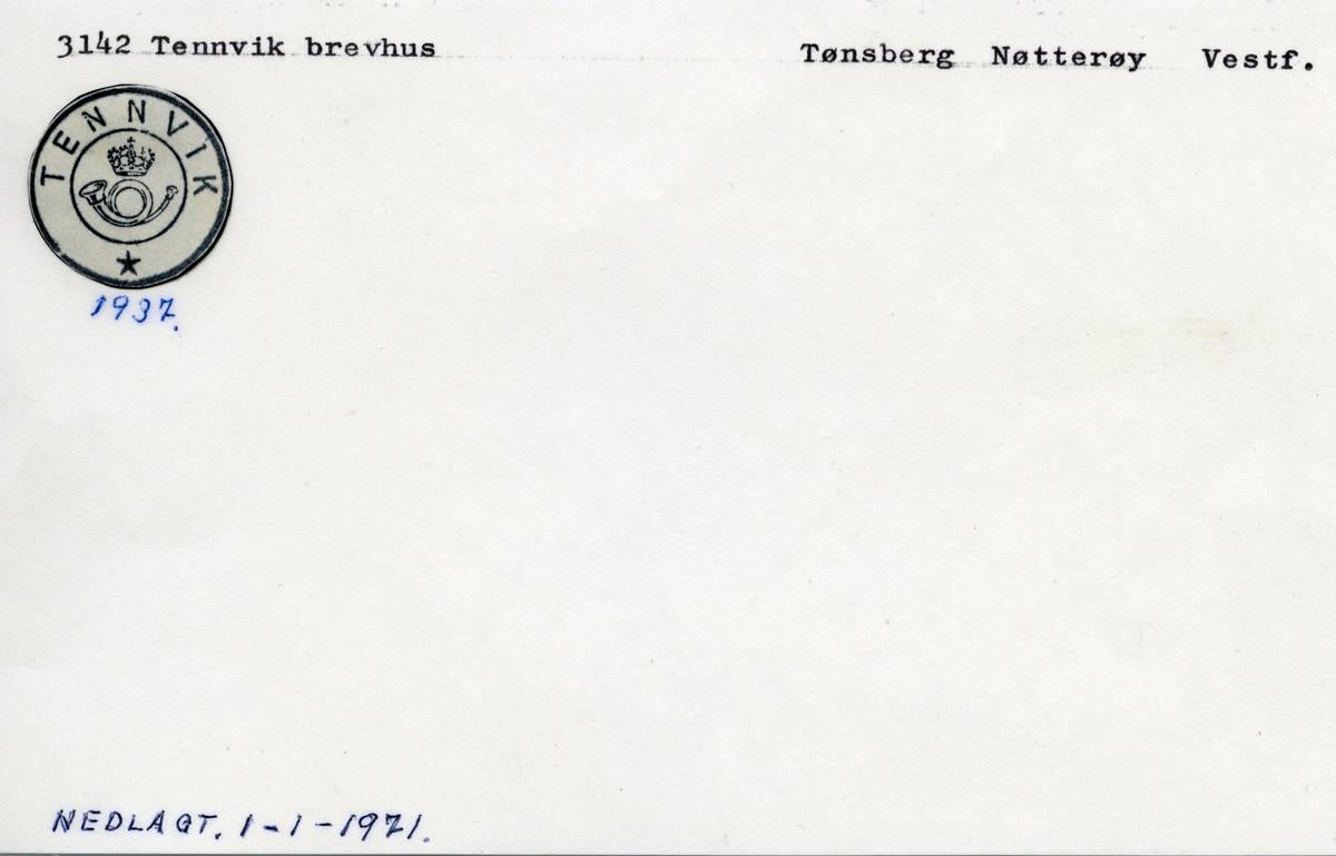 Stempelkatalog 3142 Tennvik, Nøtterøy, Vestfold