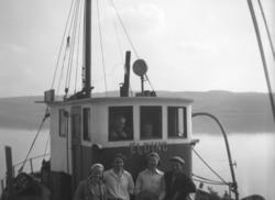 Familien Aarvik, fra venstre Randi, Sam, Ingeborg og Osvald