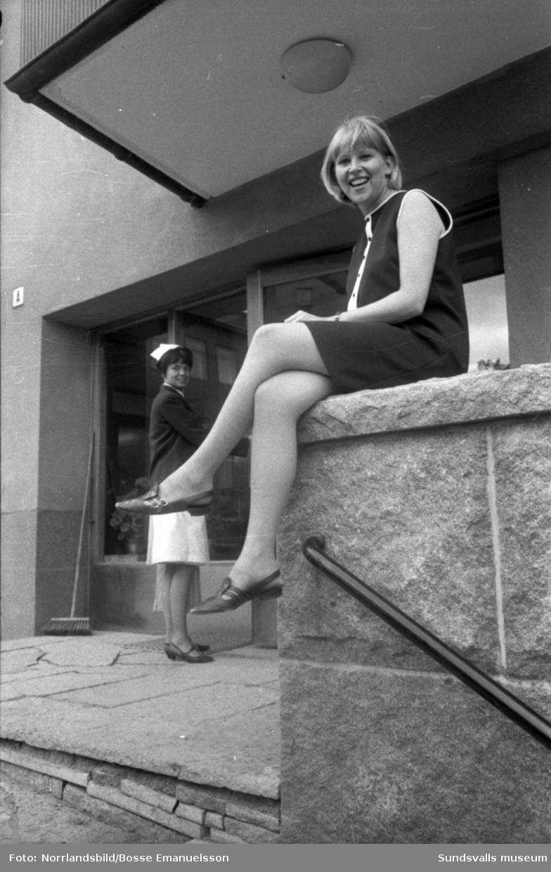 Ordförande på sjuksköterskeskolan i Sundsvall 1967. Reportage för Expressen.