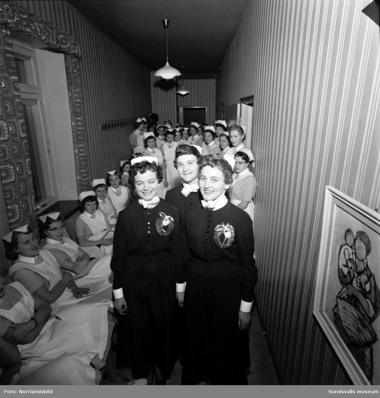 Sjuksköterskeinvigning 1958.