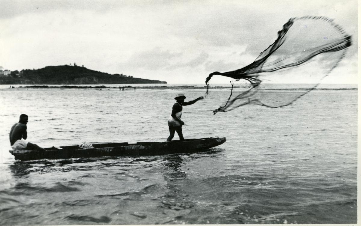 To fiskere i stokkebåt