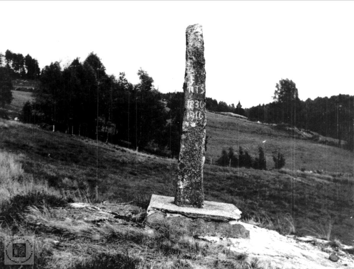 Minnestein på Sundbø