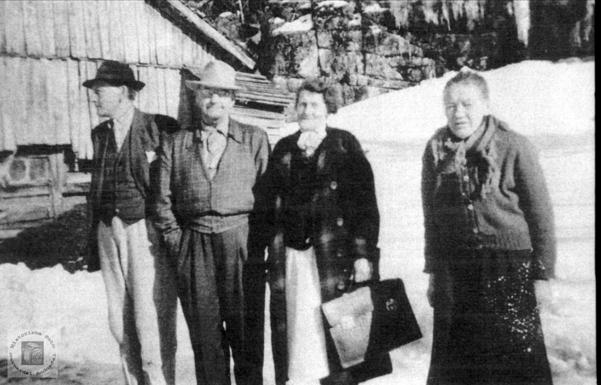 Gruppe fra Hunsdal i Laudal.