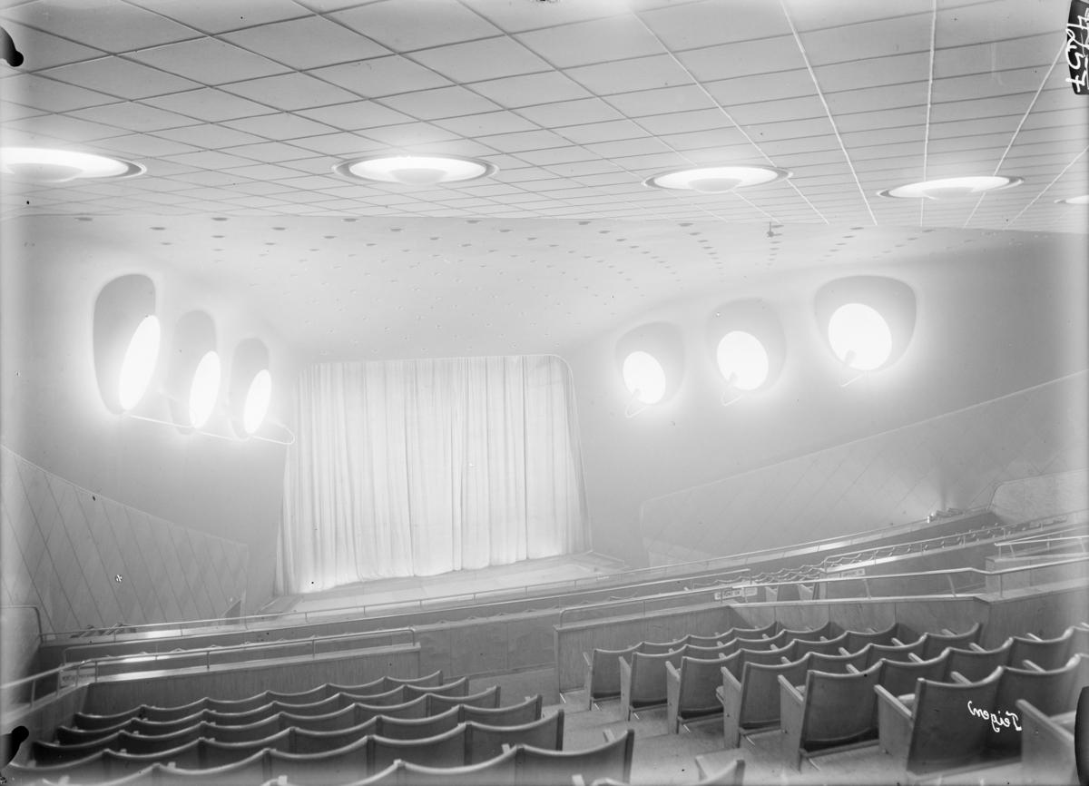 Arkitekturfoto av Samfundshuset i Oslo, innviet 19. oktober 1946.