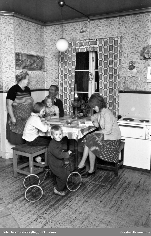 Hemma hos familjen Järpe i Holmsjöändan.