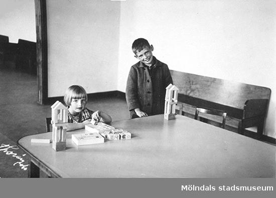 Förskolan vid Stretereds skolhem. Okända namn och årtal.