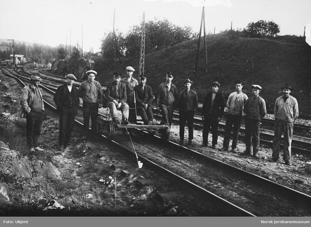 Banearbeidere på Grorud stasjon