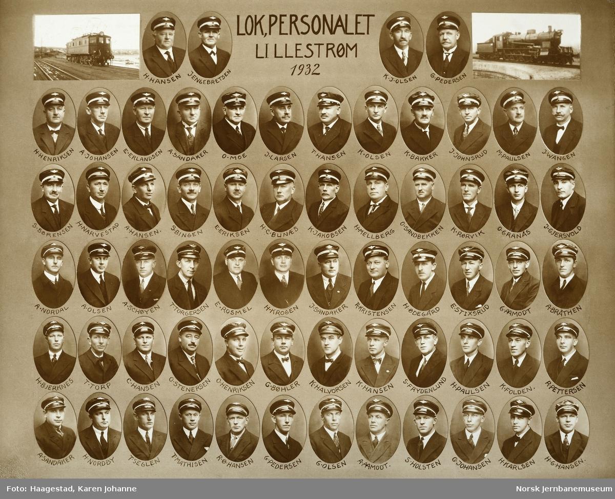 Lokpersonalet Lillestrøm 1932
