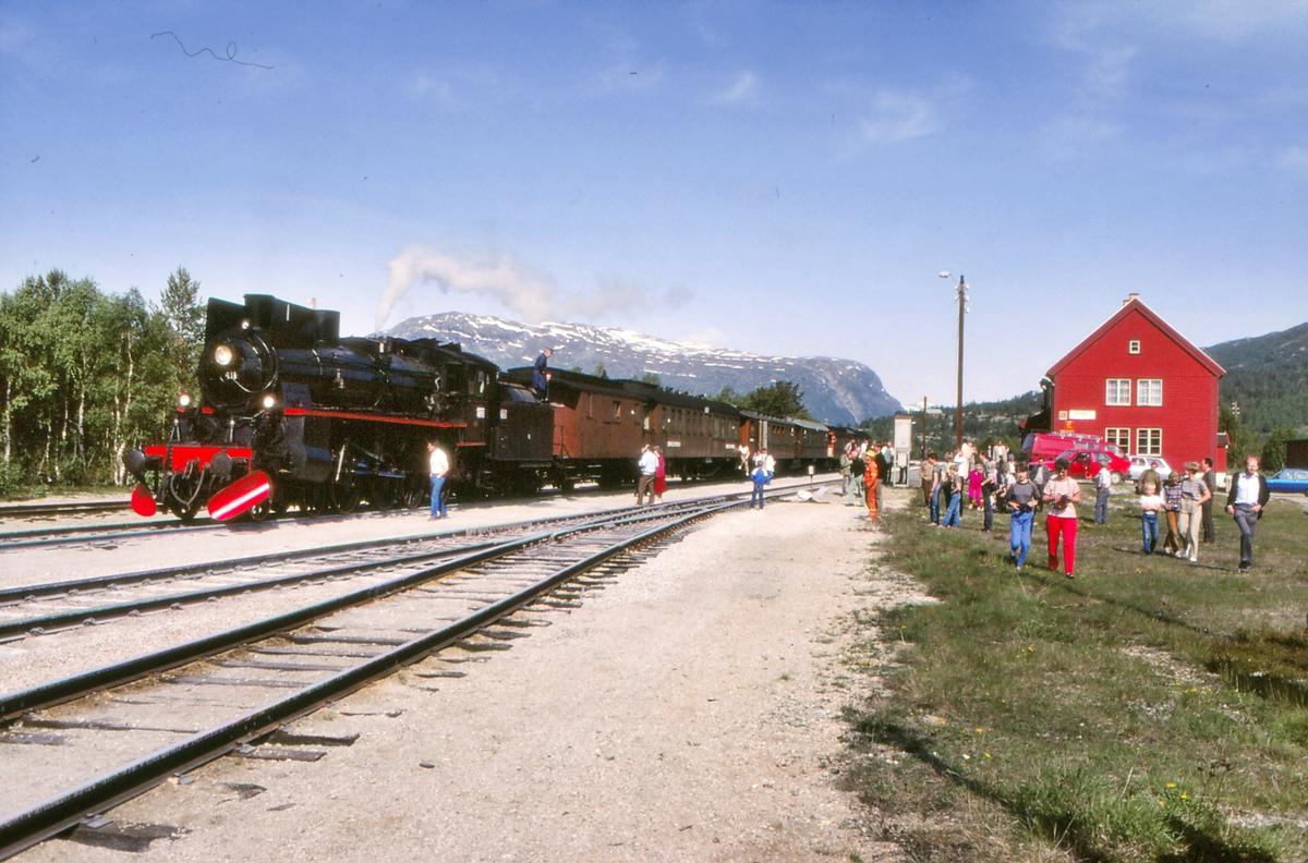 Bjorli stasjon med ekstratog til Hamar.