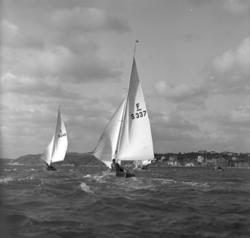 Folkbåtar i förlig vind