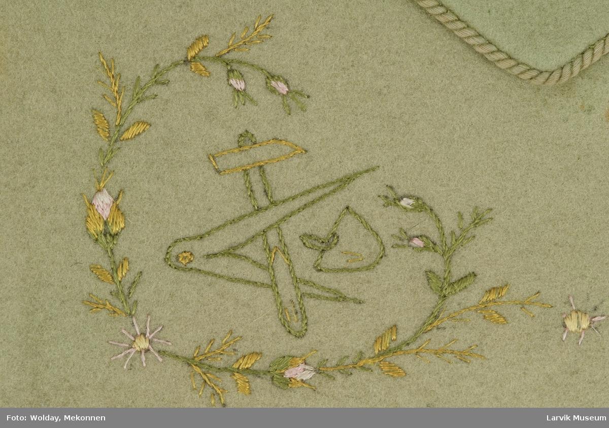 3 motiver,spinkle bladranker i grønne sjatter-