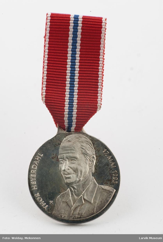 17.mai medalje. Thor Heyerdahl, 1993.