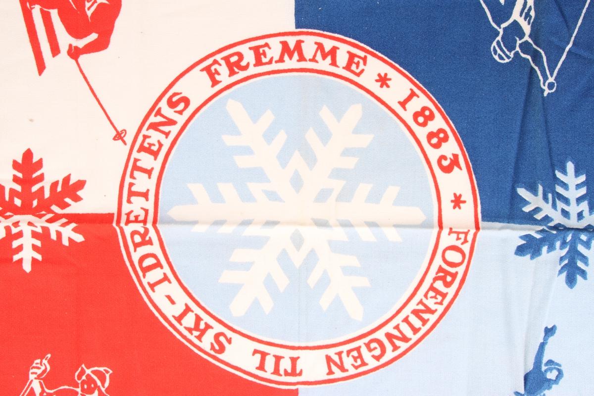 Offisielt skjerf for Holmenkollrennene i 1950.