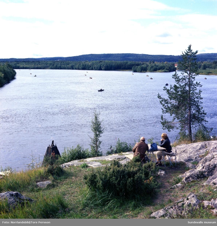 Fiskebåtar i Stavreviken, Indalsälven.