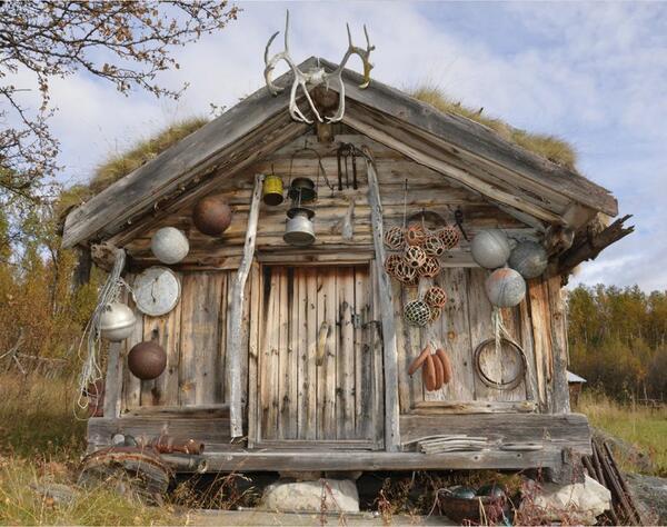 Plakatbilde Samiske hus. Foto/Photo