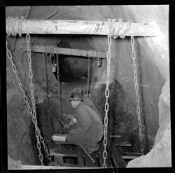 En av de siste sprengingene ved Kongsberg Sølvverk (Foto/Photo)