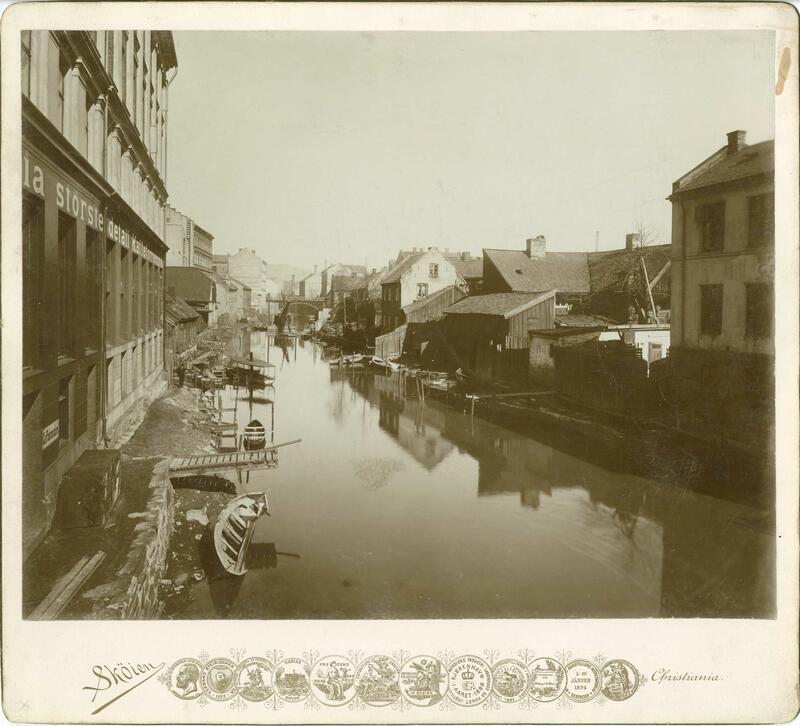 Fra Vaterlands bro, Oslo, 1901 (Foto/Photo)
