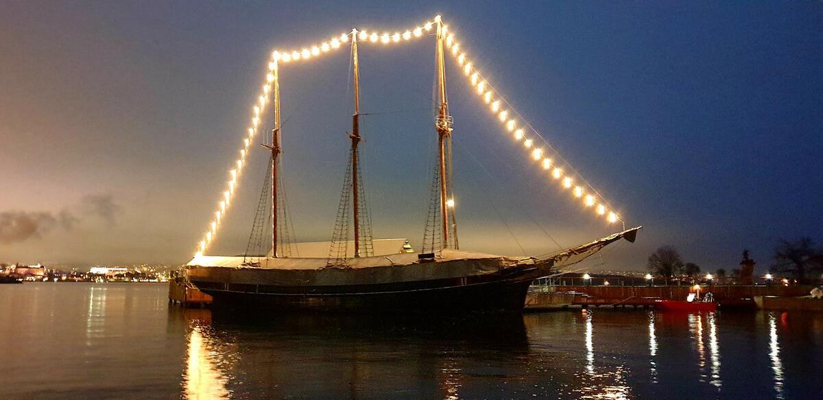 Skip med julebelysning (Foto/Photo)