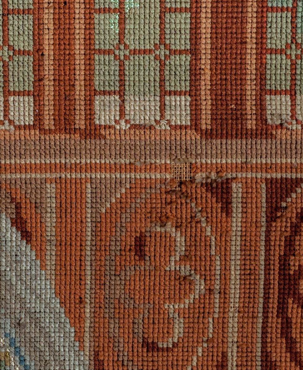 """Tavla, """"Broderad tavla från Geflehem, 1850-talet""""."""