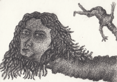 Tuda Muda,Weapons of self destruction, Charcoal on paper, 11x14 cm. (Foto/Photo)