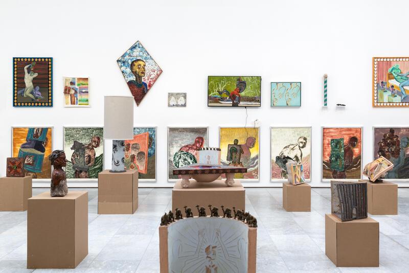 Steinar Haga Kristensen, «ULTRAIDENTIFIKASJONSPAVILJONG», 2021. Skulptur, maleri, grafikk og dataspill. Foto: Susann Jamtøy / TKM. (Foto/Photo)