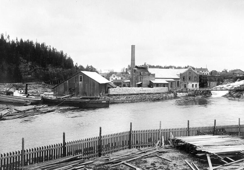 Tresliperiet på Ørje ca 1910, Foto J.B. Söderholm (Foto/Photo)