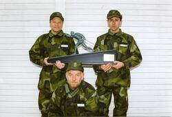 Ebersteinska priset. Stående kap. Göran Carnander, Ing 2 och