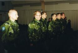 Ceremoni. Hemvärnet på fritidsgården på Ing 2. Major Johan L
