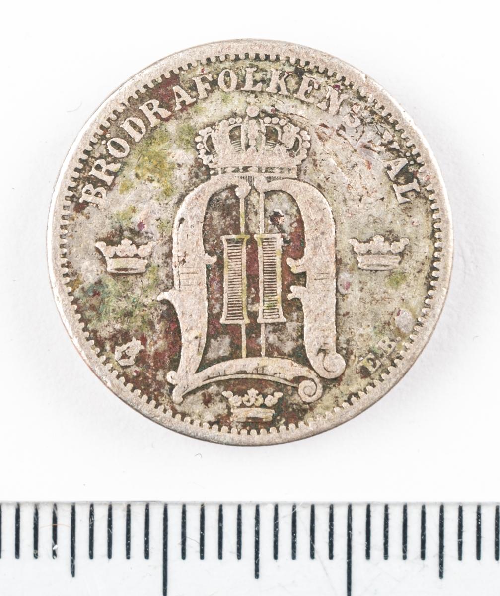 Mynt, 50 öre, 1881.