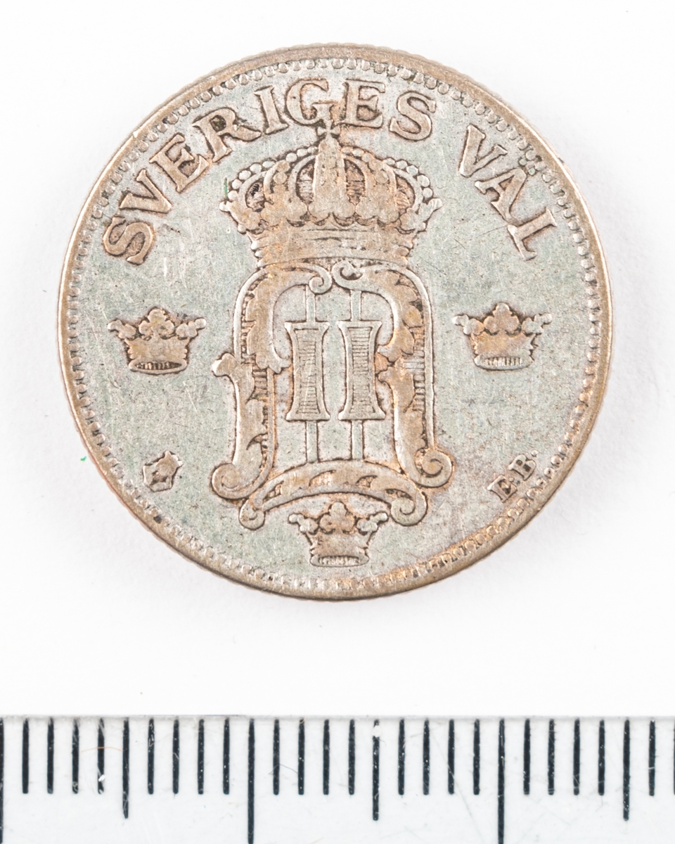 Mynt, 50 öre, 1907.