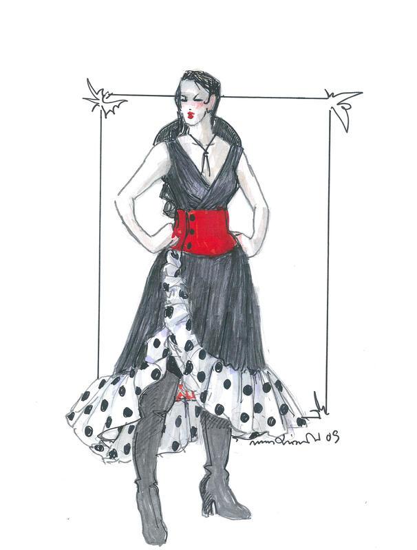 Carmen-skisse tegnet av Mona Irene Grimstad. (Foto/Photo)