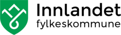 Grønt skjold med hvite strekfjell og en innsjø - logoen til Innlandet fylkeskommune. (Foto/Photo)