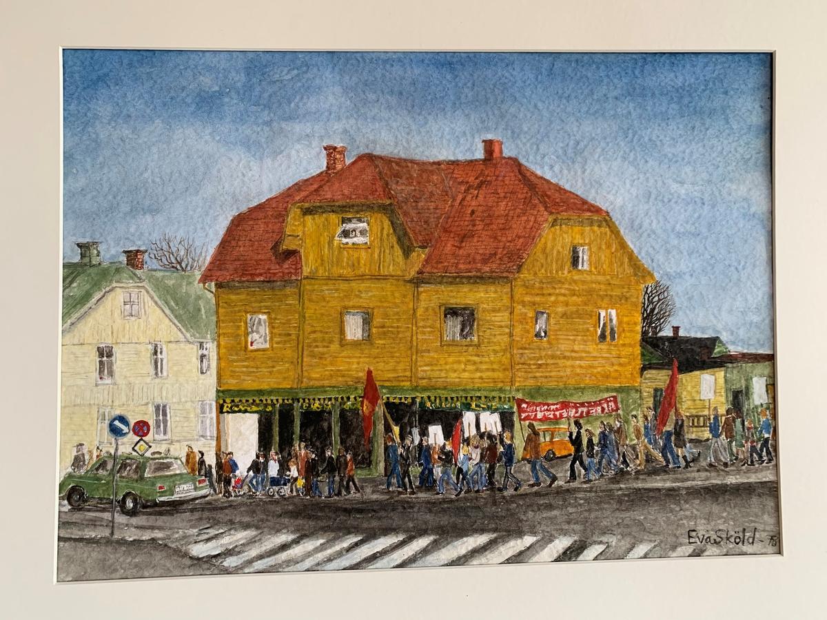 Arbetsdemonstration i Degerfors [Målning]