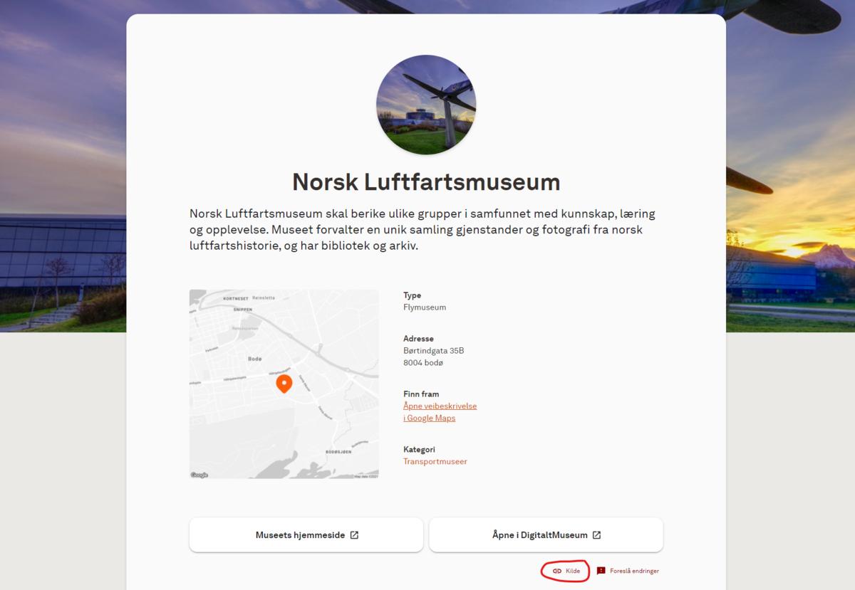 """For å foreslå endringer i opplysninger, bør museene gjøre dette direkte i kildedataene i KulturNav. Gjør dette via """"Kilde"""" nederst til høyre på profilsiden i Museumsguiden. (Foto/Photo)"""