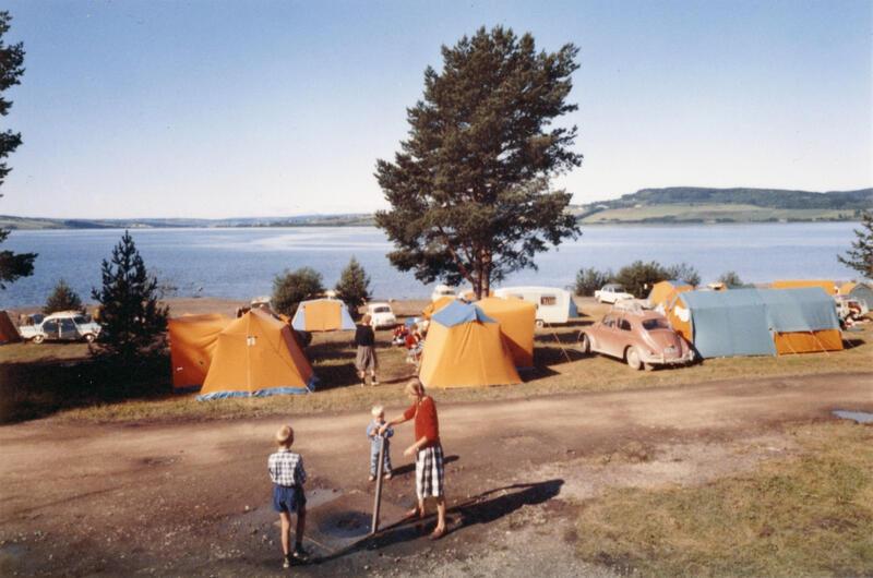 Hamar camping, Hamar, ca. 1960-71.  Foto: Per Solheim/Anno Domkirkeodden. (Foto/Photo)