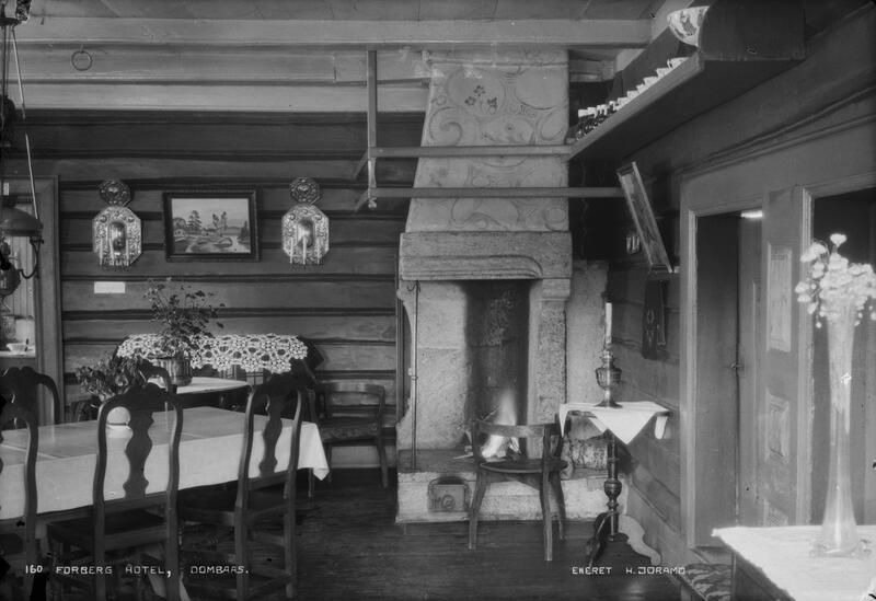 Forberg Hotell, Dombås, ca.1910-40. Foto: Hans Joramo/Maihaugen. (Foto/Photo)