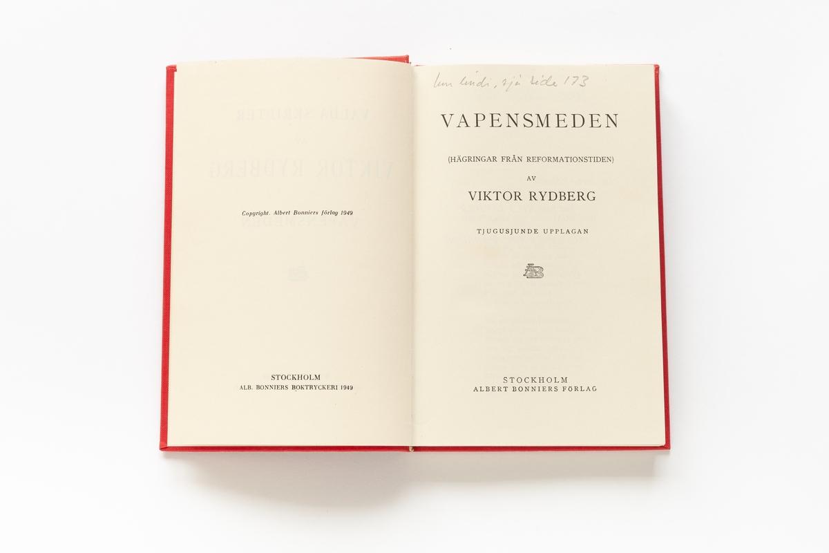 Viktor Rydberg: Vapensmeden