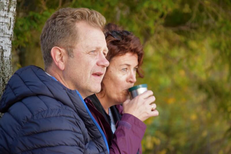 Foto av par som drikker kaffe (Foto/Photo)