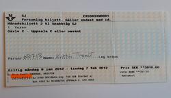Månadsbiljett