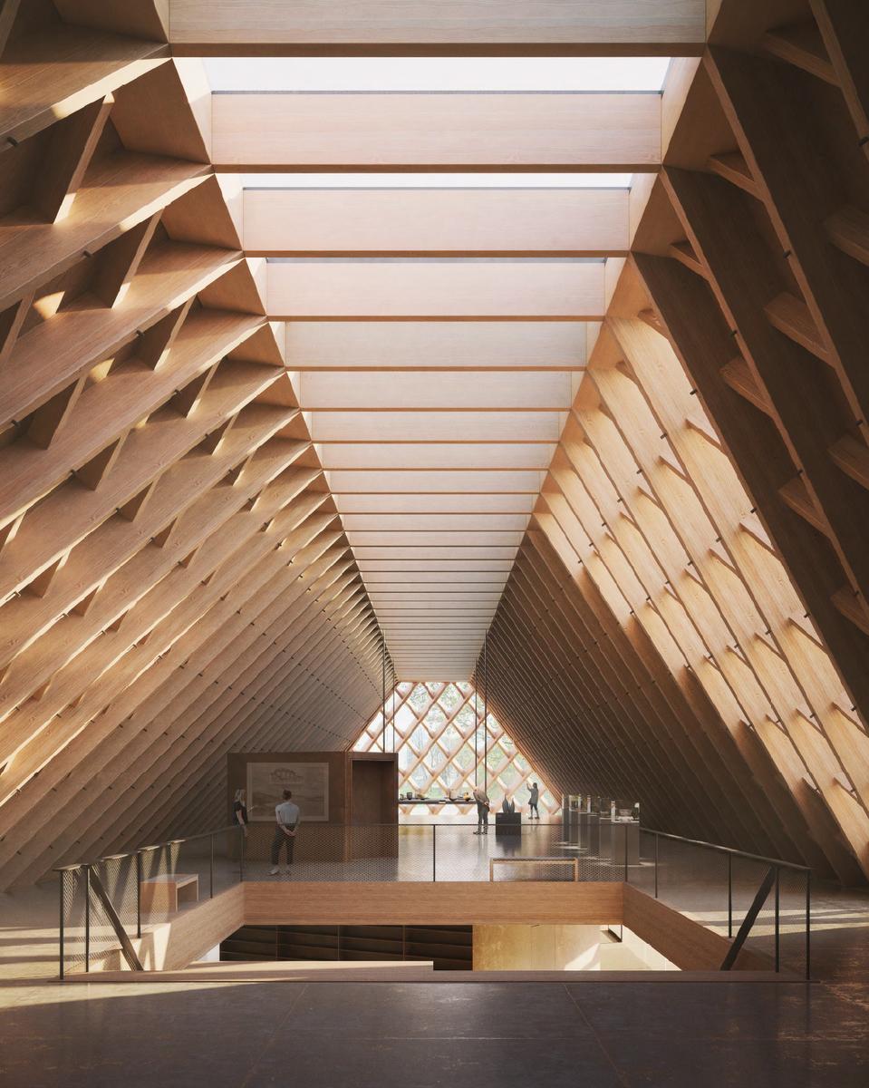 Illustrasjon hentet fra et av forslagene som kom in i arkitektkonkurransen om nytt museumsbygg ved Anno Domkirkeodden. (Foto/Photo)
