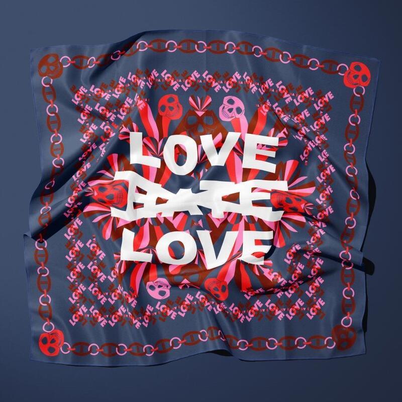 Gilles&Cecilie, Flag Your Ideas, Digital trykk på tekstil 100x100cm, opplag 50 stk, kr 2900,- (Foto/Photo)
