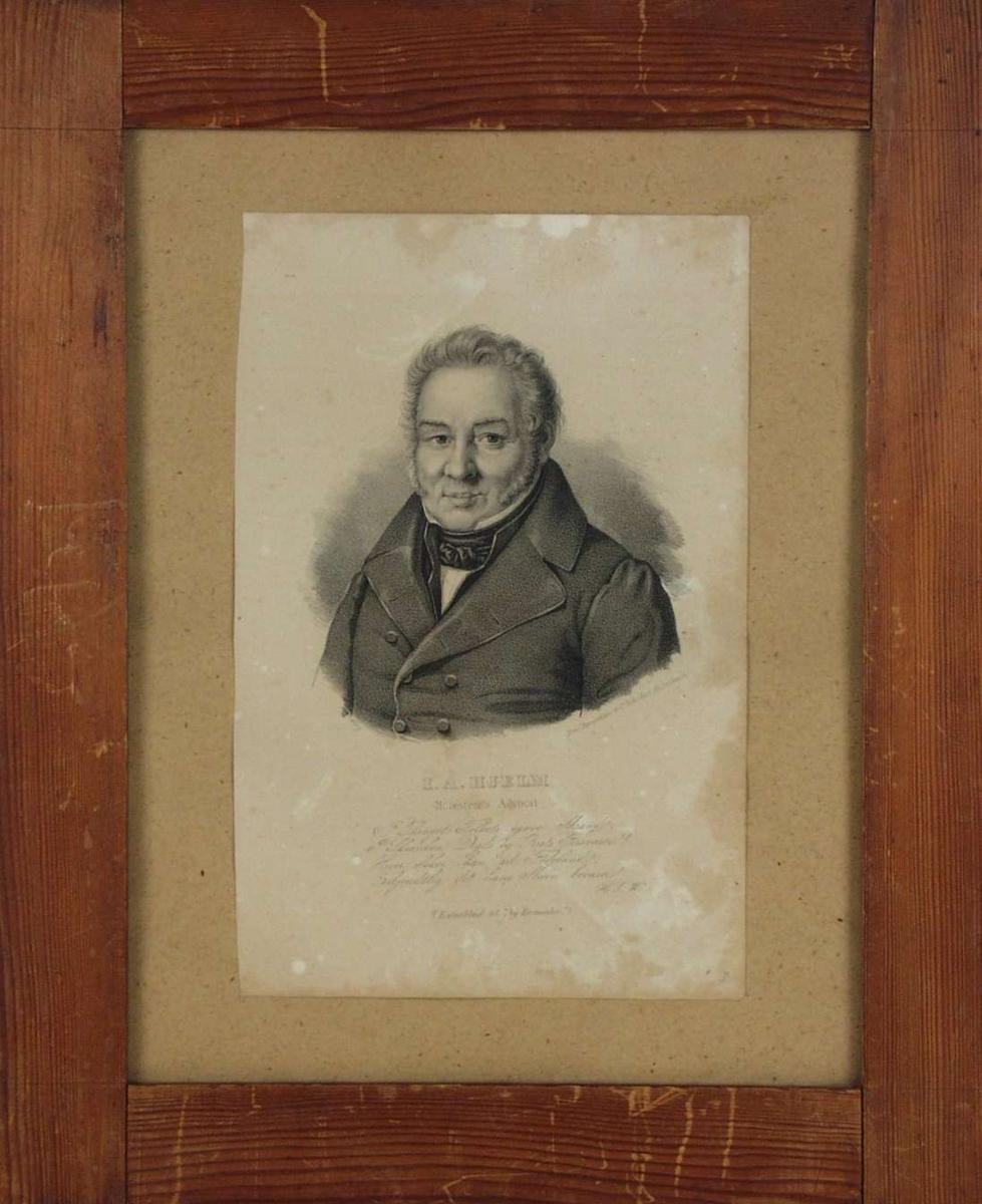 Portrett av advokat I.A.Hjelm.