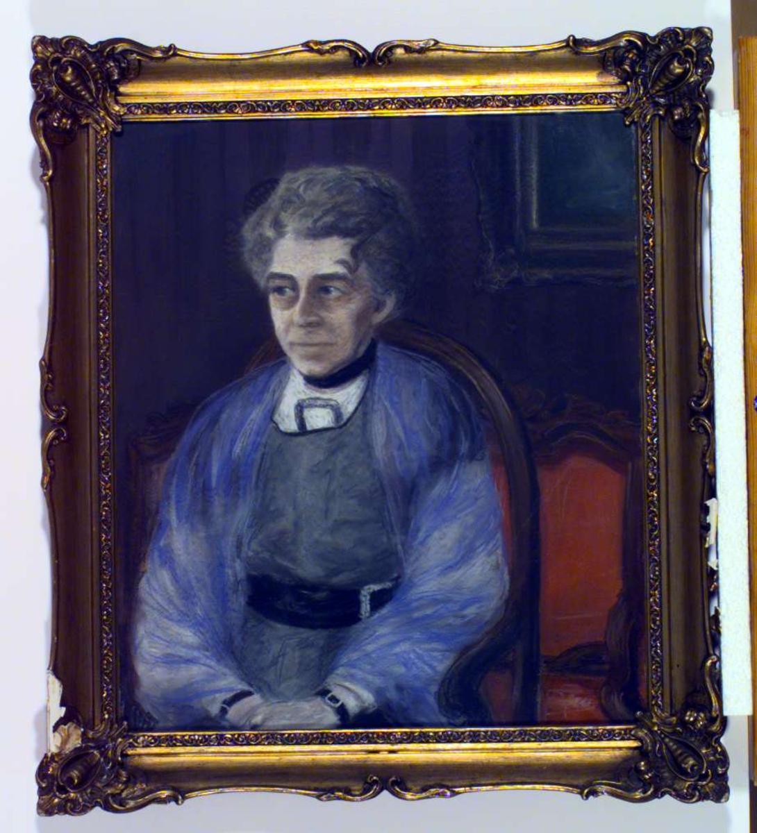 Portrett av Charlotte Undset f. Gyth, Sigrid Undsets mor.