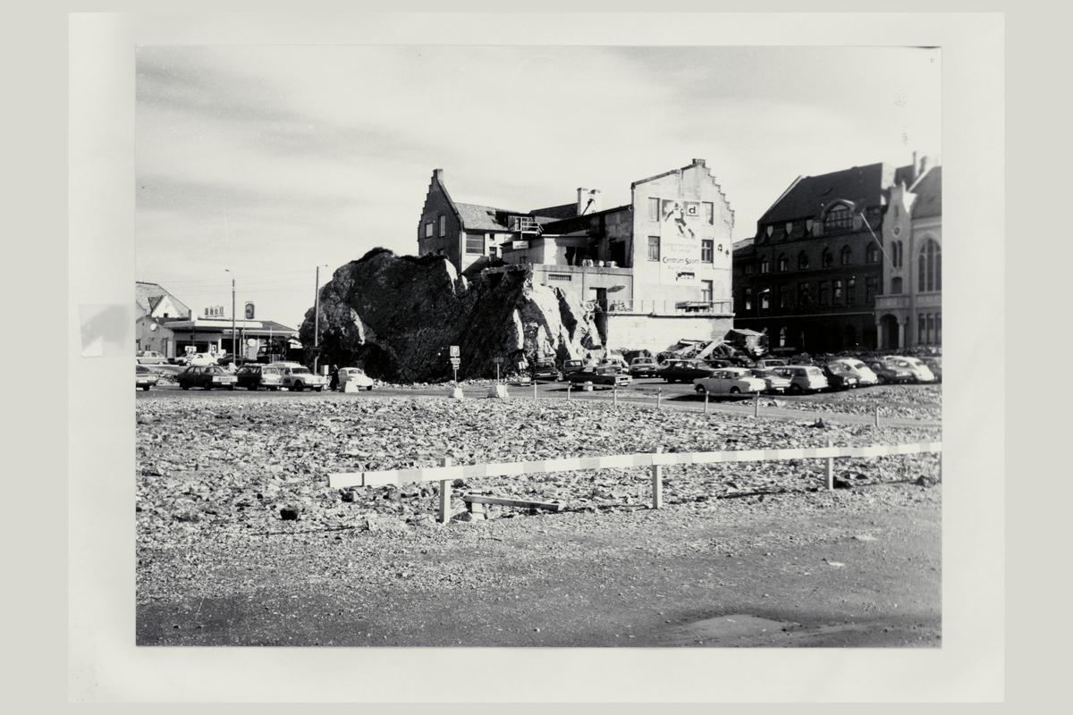 eksteriør, postterminal, Oslo, Postgiro, tomt før nedriving