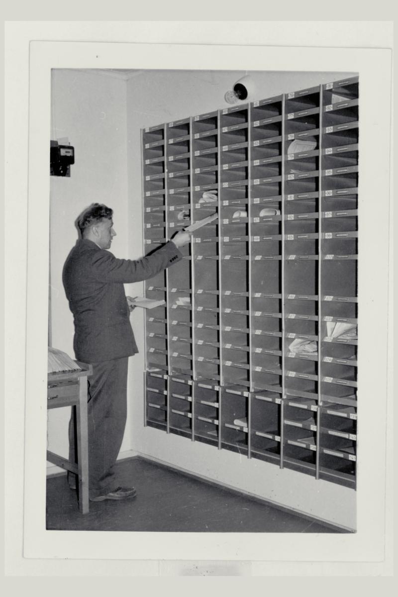 interiør, postkontor, sortering